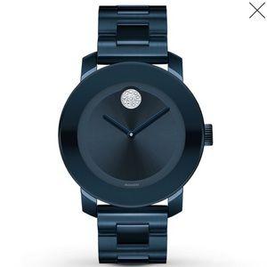 New Black Movado Bold Watch